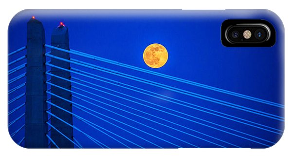Moon Over A Bridge IPhone Case