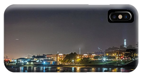 IPhone Case featuring the photograph Moon Over Aquatic Park by Kate Brown