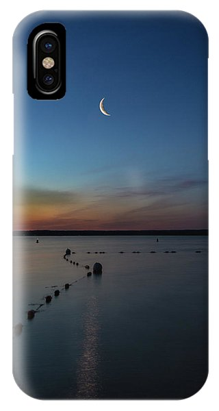 Moon Over Cayuga IPhone Case