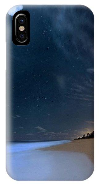 Moon Over Hobe Sound Beach Florida  IPhone Case