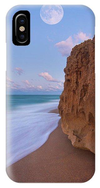 Moon Over Hutchinson Island Beach IPhone Case