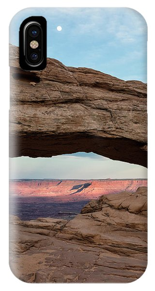 Moon Over Mesa Arch IPhone Case
