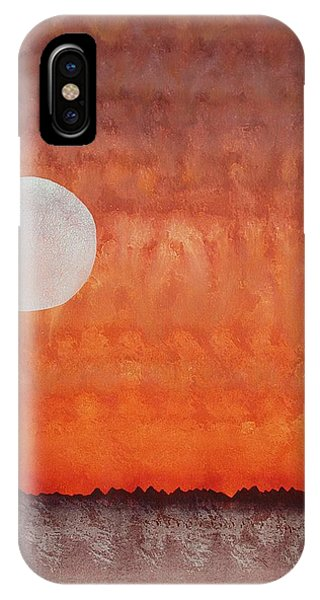 Moon Over Mojave IPhone Case