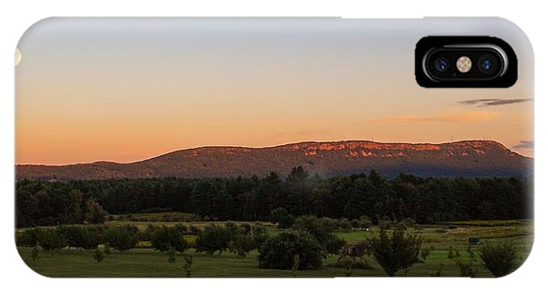 Moon Over Mount Tom IPhone Case