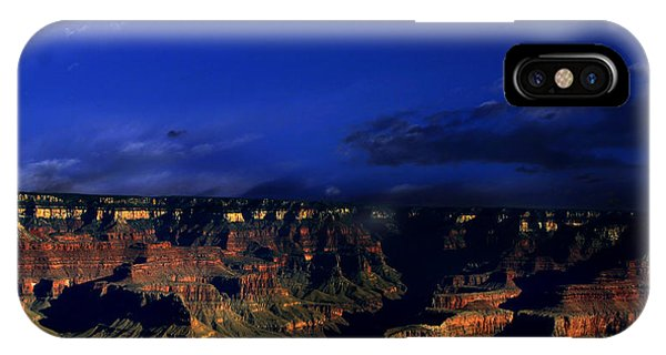 Moon Over The Canyon IPhone Case