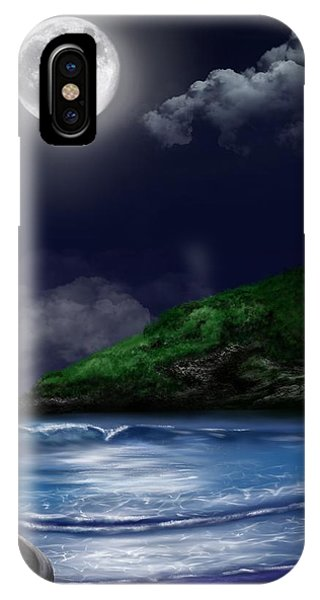 Moon Over The Cove IPhone Case