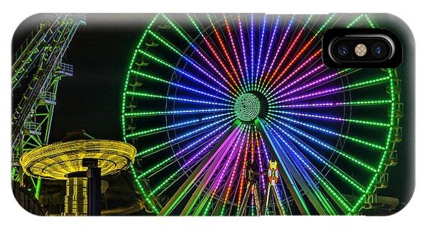 Moon Over The Ferris Wheel IPhone Case