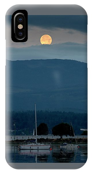 Moon Over The Spit IPhone Case