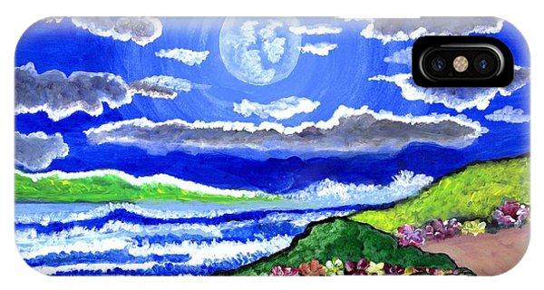 Moon Over The Tropics  IPhone Case