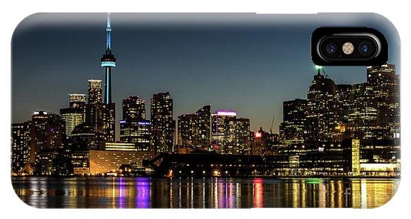 Moon Over Toronto IPhone Case