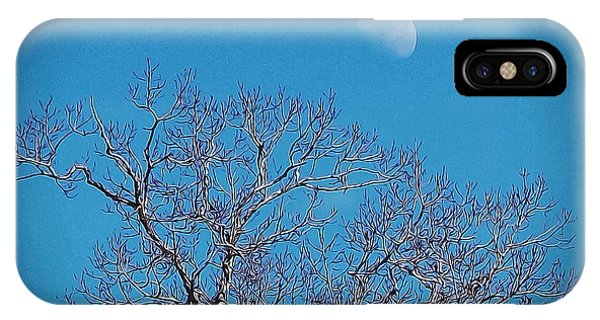 Moon Over Tree IPhone Case