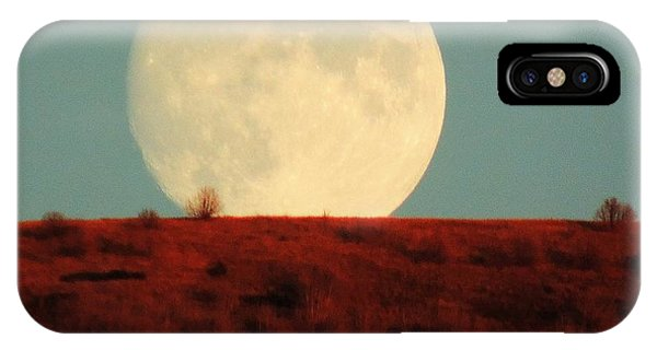 Moon Over Utah IPhone Case
