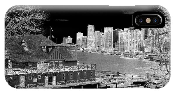 Vancouver City iPhone Case - Moon Over Vancouver by Will Borden