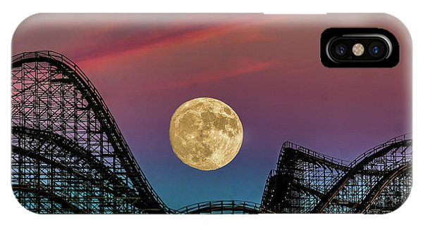 Moon Over Wildwood Nj IPhone Case