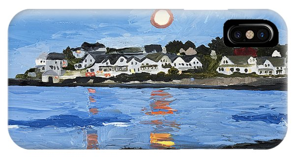 Moon Over York Beach IPhone Case
