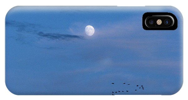 Moon Rises Geese Fly IPhone Case