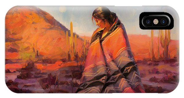 New Mexico iPhone Case - Moon Rising by Steve Henderson
