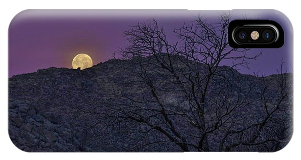 Moon Set At Sunrise IPhone Case