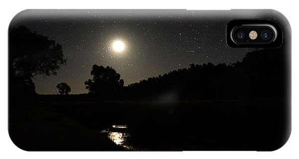 Moon Set Over Palm Valley 2 IPhone Case