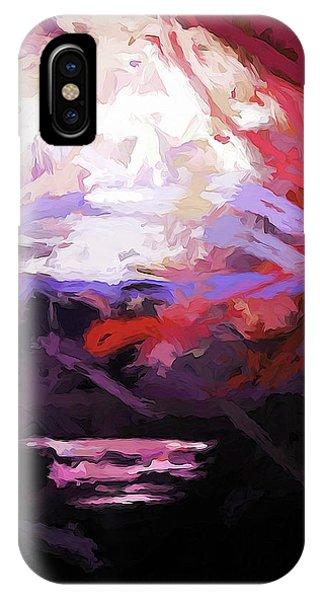 Moon Sky Pink Sea IPhone Case