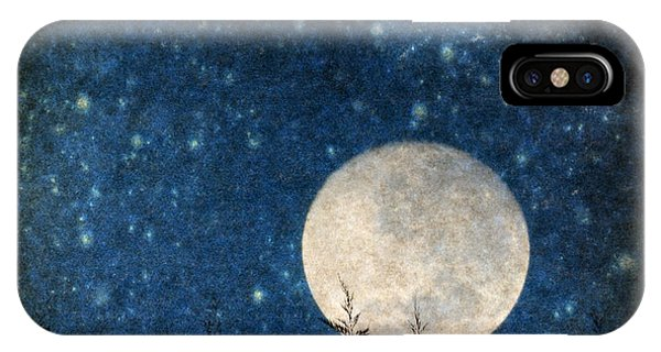 Moon, Tree And Stars IPhone Case