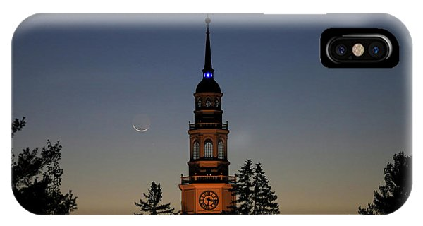 Moon, Venus, And Miller Tower IPhone Case