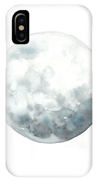 Moon iPhone Case - Moon Watercolor Art Print Painting by Joanna Szmerdt