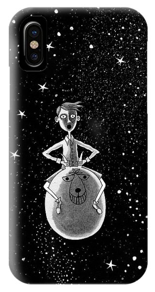 Illustration iPhone Case - Moonage Daydream  by Andrew Hitchen