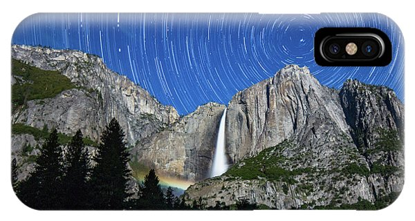 Moonbow And Startrails  IPhone Case