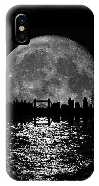 Moonlight London Skyline IPhone Case