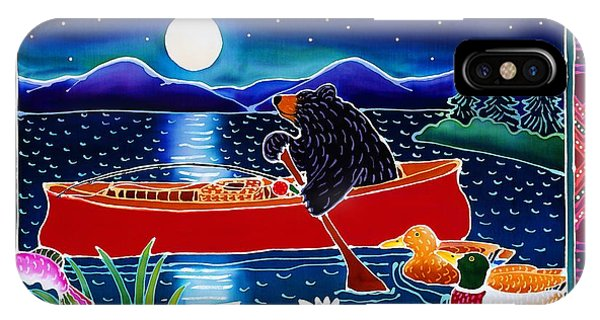 Duck iPhone Case - Moonlight On A Red Canoe by Harriet Peck Taylor