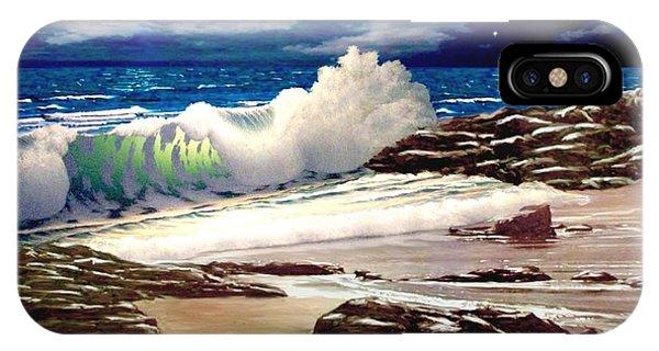 Moonlight On The Beach IPhone Case