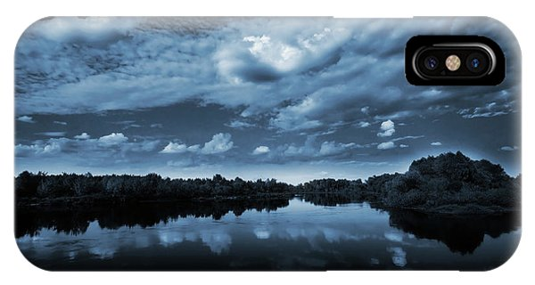 Reflection iPhone Case - Moonlight Over A Lake by Jaroslaw Grudzinski