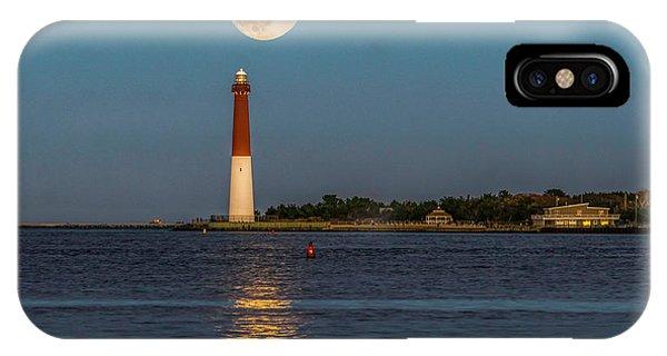 Moonlight Over Barnegat Lighthouse IPhone Case