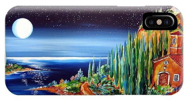 Moonlight Over My Tuscan Villa IPhone Case