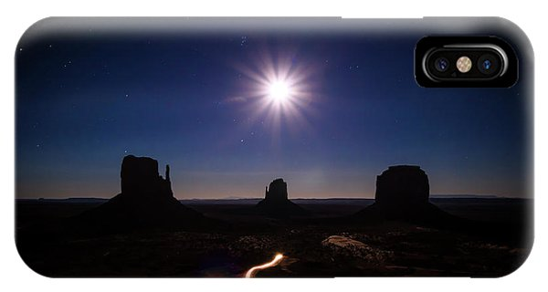Full Moon iPhone Case - Moonlight Over Valley by Edgars Erglis