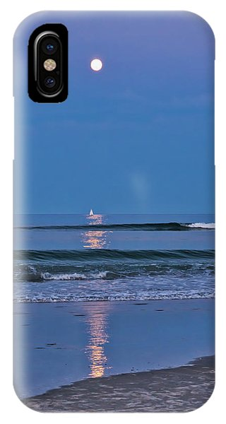 Moonlight Sail 3 - Ogunquit Beach - Maine IPhone Case