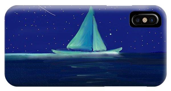 Moonlight Sail IPhone Case