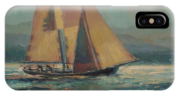 Moonlight iPhone Case - Moonlight Sail by Steve Henderson