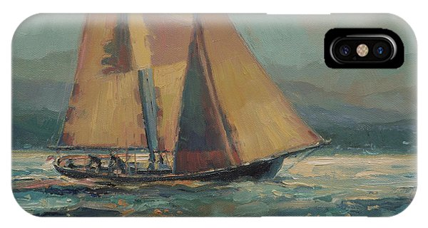 Evening iPhone Case - Moonlight Sail by Steve Henderson