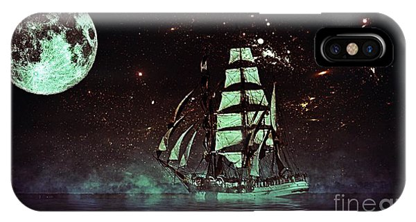 Moonlight Sailing IPhone Case