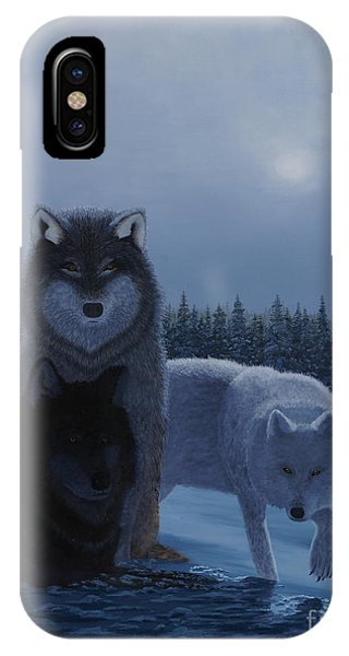 Moonlight Wolves IPhone Case