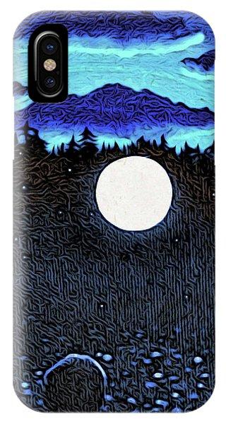 Moonlit Beach IPhone Case
