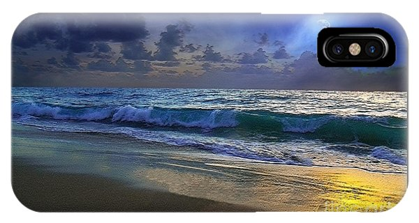 Moonlit Beach Seascape Treasure Coast Florida C4 IPhone Case