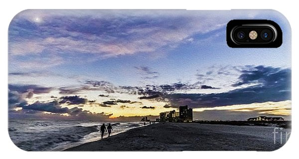 Moonlit Beach Sunset Seascape 0272b1 IPhone Case