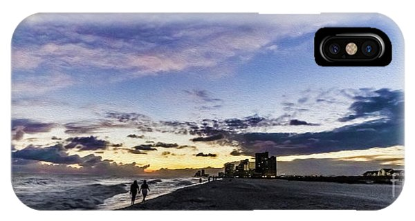 Moonlit Beach Sunset Seascape 0272c IPhone Case