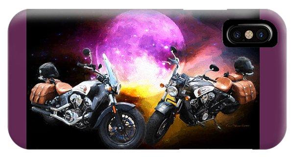 Moonlit Indian Motorcycle IPhone Case