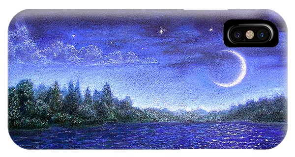 Moonlit Lake IPhone Case