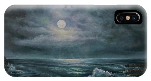 Moonlit Seascape IPhone Case