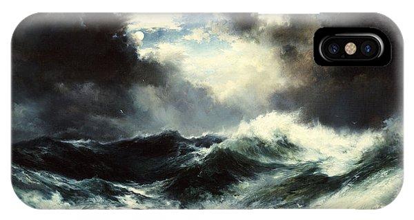 Moonlit Shipwreck At Sea IPhone Case